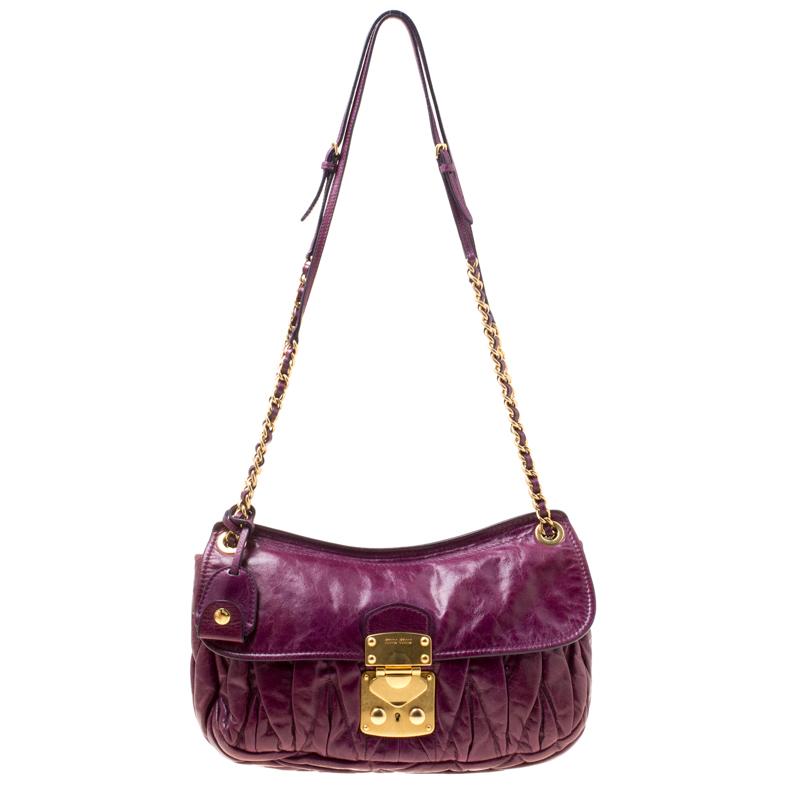 14cb1c307fc1 ... Miu Miu Purple Matelasse Leather Shoulder Bag. nextprev. prevnext