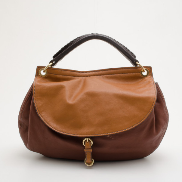 98af96dc58a1 Buy Miu Miu Brown Nappa Leather Hobo Bag 33967 at best price