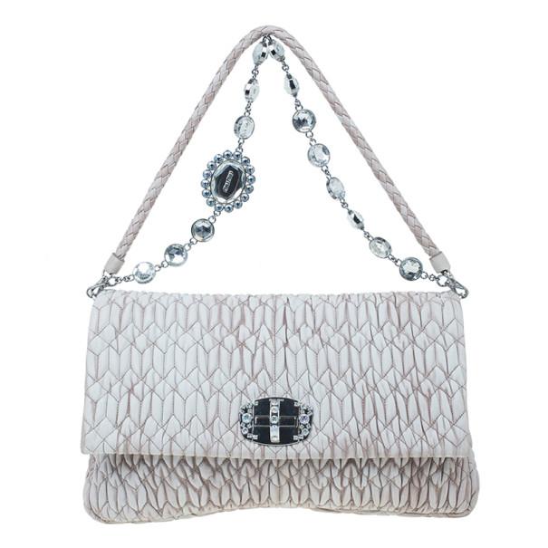 3581a758539 Buy Miu Miu Cameo Nappa Crystal Shoulder Bag 4609 at best price   TLC