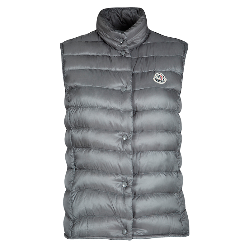 dcf6fb0052fe Buy Moncler Grey Puffer Down Liane Gilet S 113159 at best price
