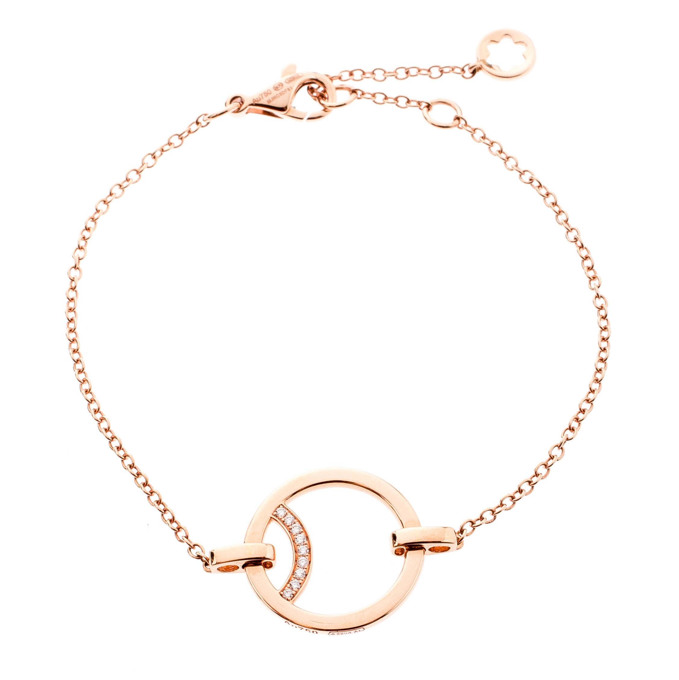 61e1494b8c022 Buy Montblanc Diamond 18k Rose Gold Chain Bracelet 201760 at best ...