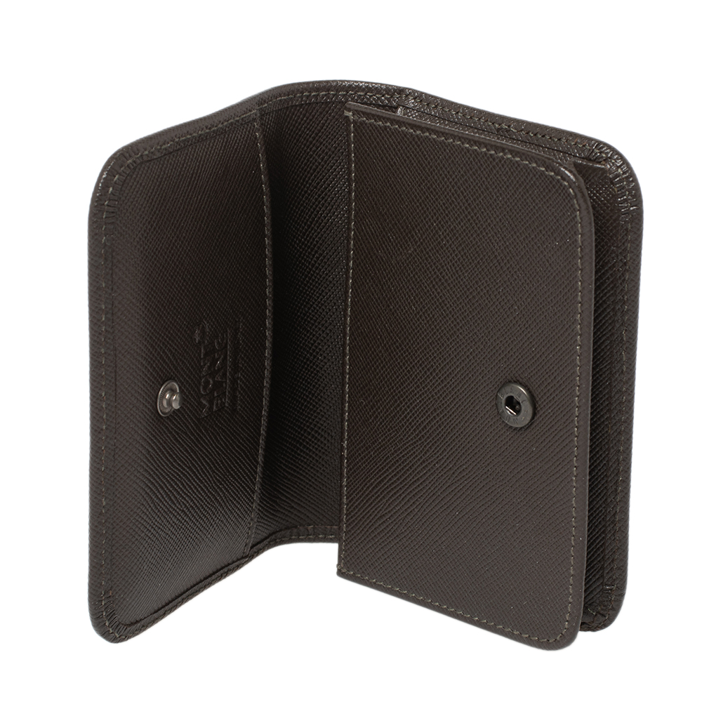 Montblanc Brown Signature Coated Canvas Business Card Holder
