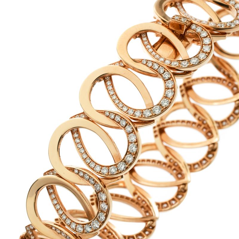 Купить со скидкой Montblanc Princesse Grace de Monaco Petal Intertwined Diamond 18k Rose Gold Bracelet