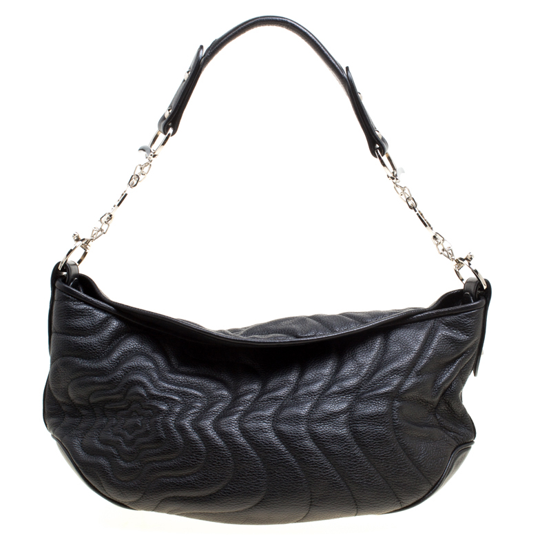 Купить со скидкой Montblanc Black Leather Starisma Alcina Hobo