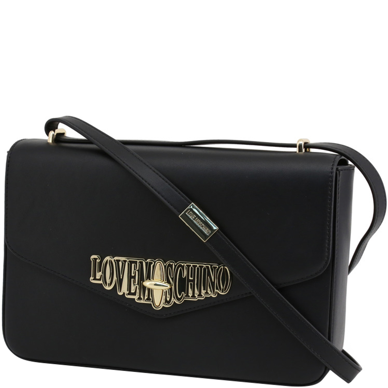 Love Moschino Black Faux Leather Crossbody Bag