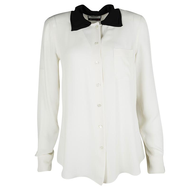 c6b413efbabf6 ... Silk Contrast Bow Collar Detail Long Sleeve Shirt M. nextprev. prevnext