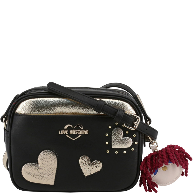 e238b57892c Love Moschino Two Tone Faux Leather Crossbody Bag