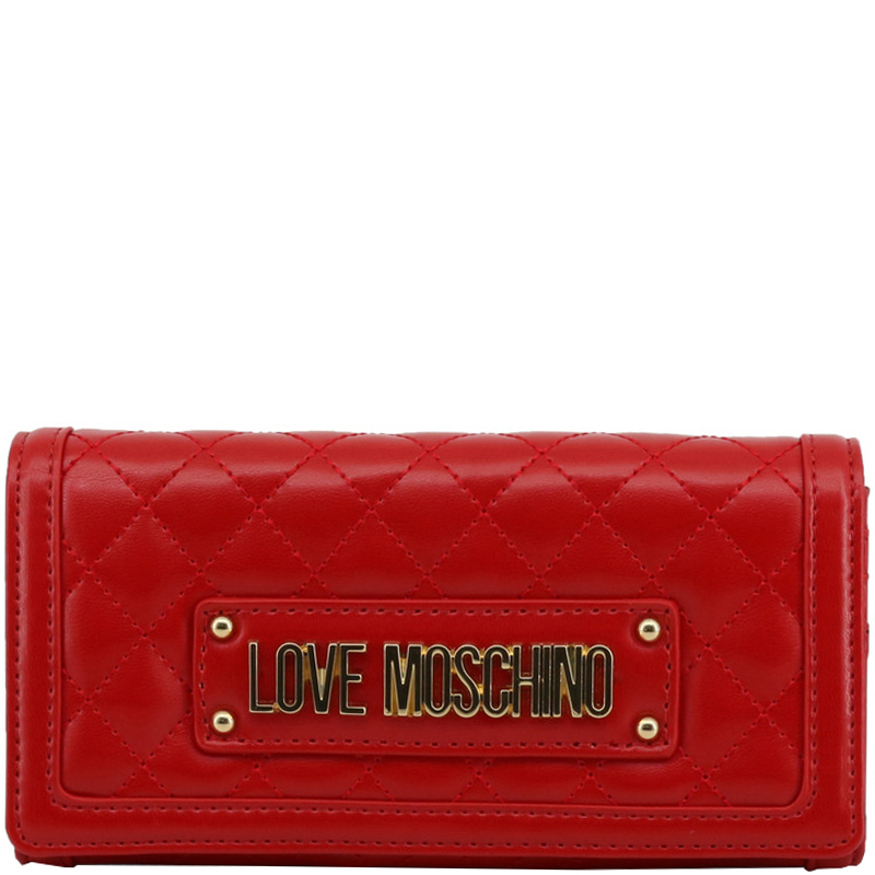 abf36f4f4f Buy Love Moschino Red Quilted Faux Leather WOC Clutch Bag 183540 at ...