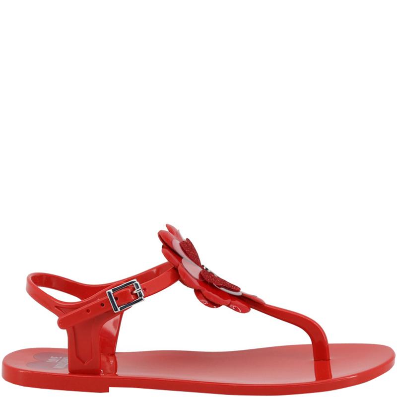 97b7ce6d1ba ... Red Rubber Flower Flat Thong Sandals Size 36. nextprev. prevnext