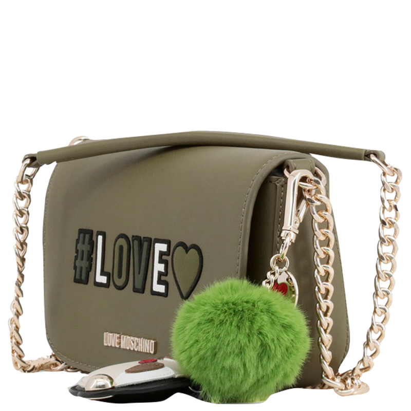 Love Moschino Green Synthetic Leather Crossbody Bag