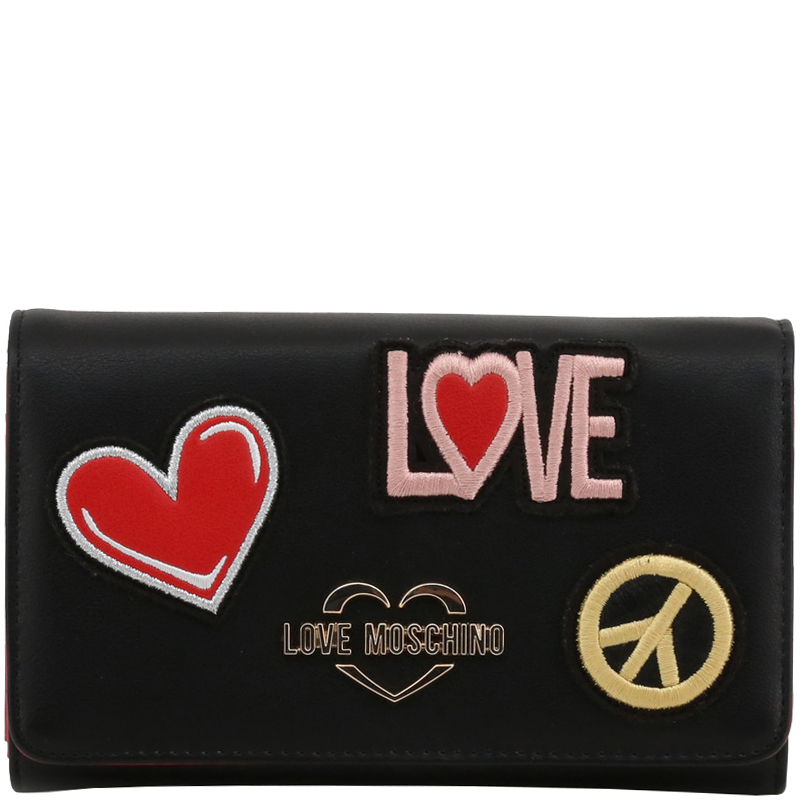 Love Moschino Black Faux Leather WOC Clutch Bag