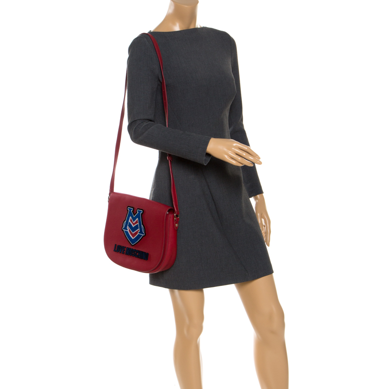 Love Moschino Red Leather Crossbody Bag
