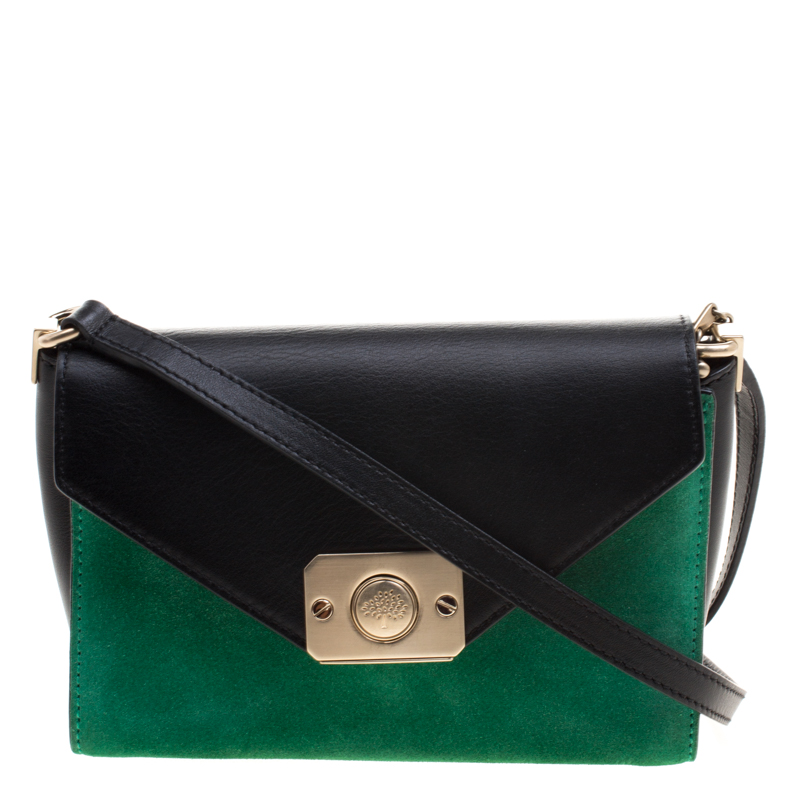 Buy Mulberry Tricolor Suede and Leather Delphie Duo Flap Shoulder ... e0aa798b00