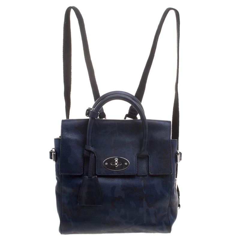 887991155e ... Mulberry Midnight Blue Camo Printed Leather Mini Cara Delevingne  Backpack Tote. nextprev. prevnext