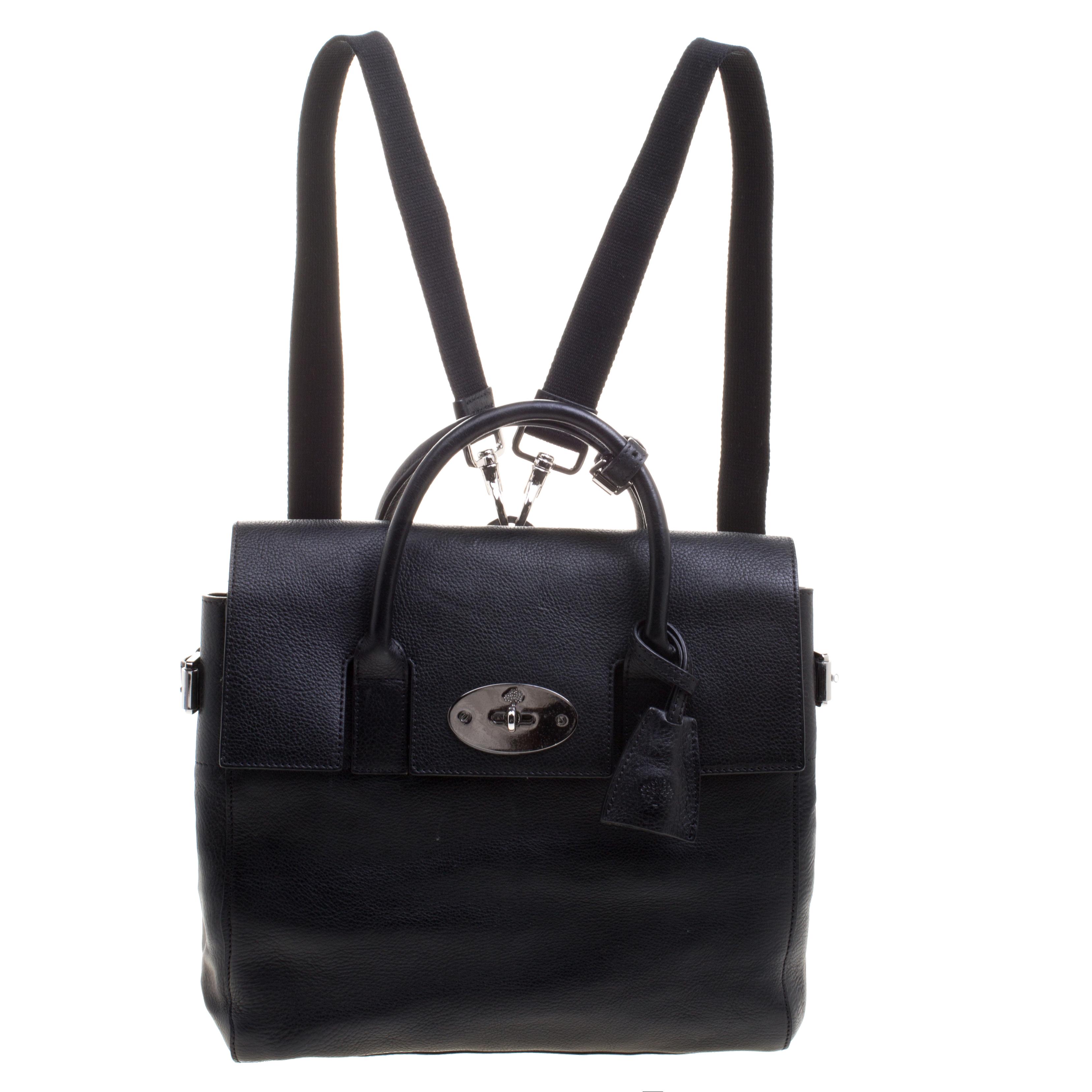 5ee5237f54 ... Mulberry Black Leather Bayswater Cara Delevingne Backpack. nextprev.  prevnext