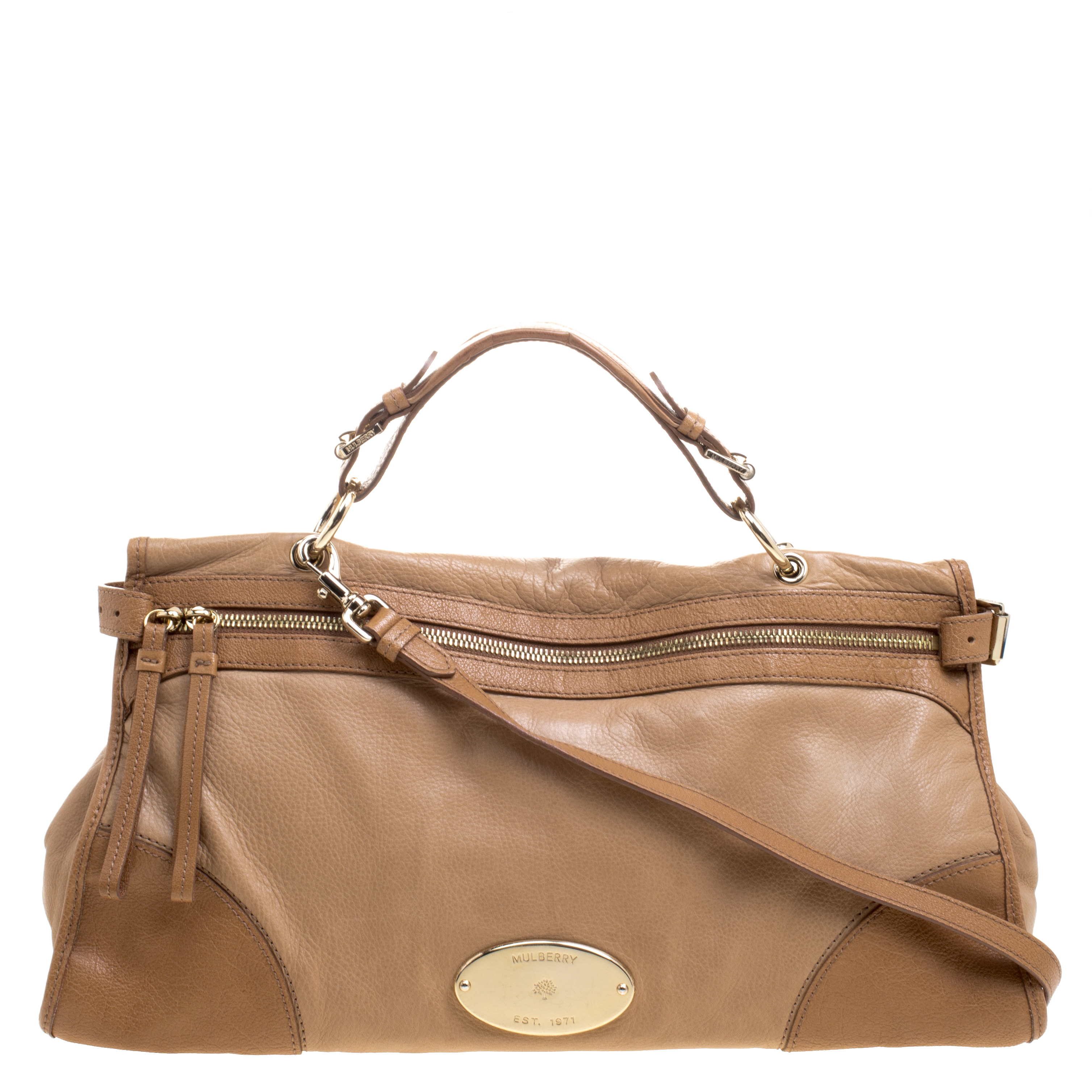 8c57cbaf24 Buy Mulberry Light Brown Leather Shoulder Bag 110425 at best price