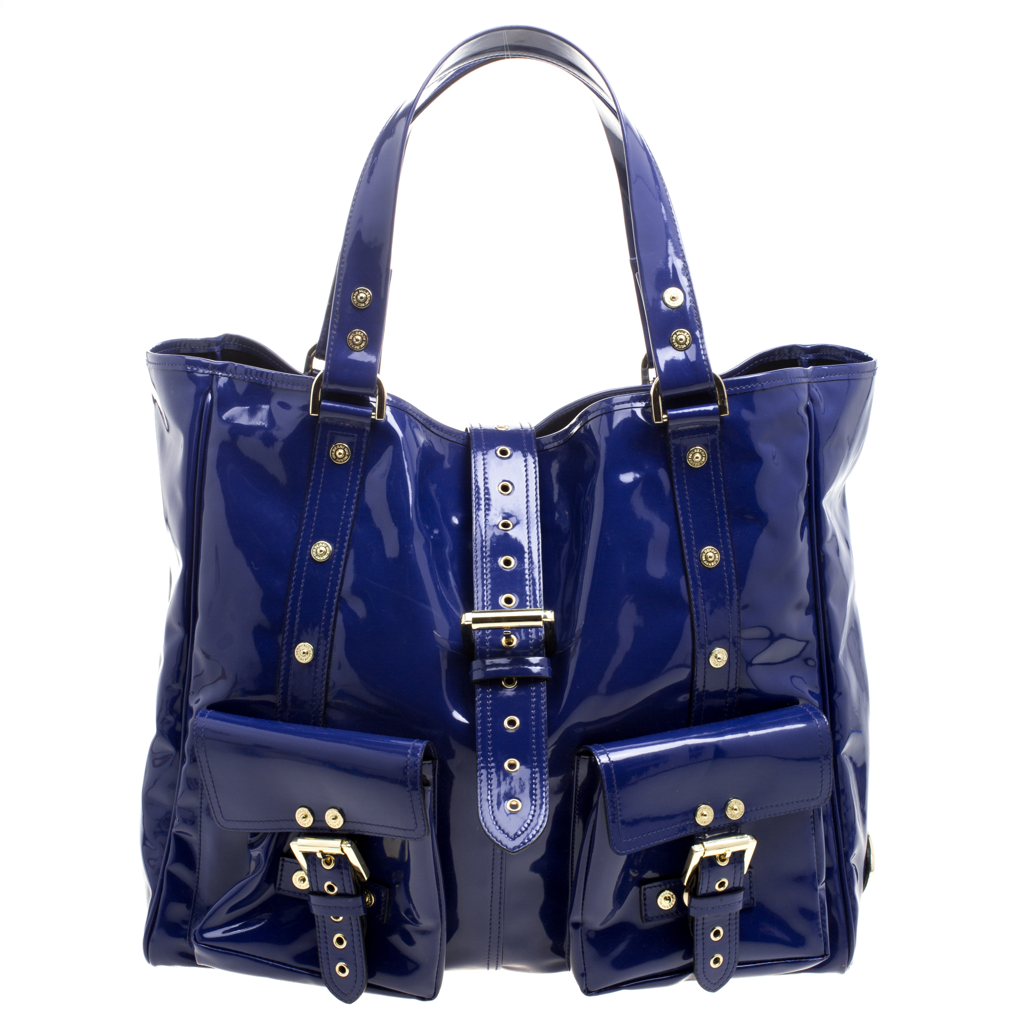 87f7e07731ce Buy Mulberry Blue Patent Leather Roxanne Tote 118243 at best price