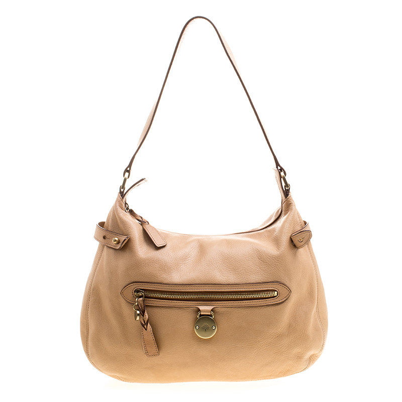2e84b17189 Buy Mulberry Beige Leather Somerset Hobo 125620 at best price | TLC