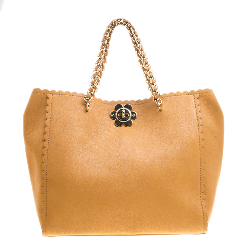 dc66f6fd046f ... Mulberry Tan Leather Flower Cecily Tote. nextprev. prevnext