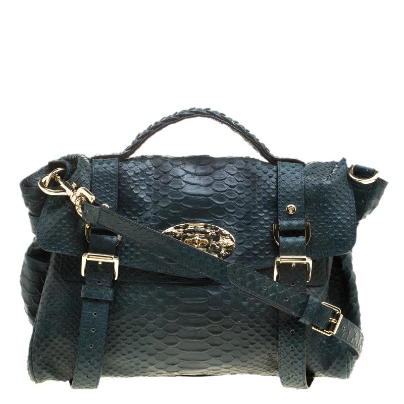 0f4af4b77d ... Mulberry Dark Green Silky Snake Print Leather Alexa Satchel. nextprev.  prevnext