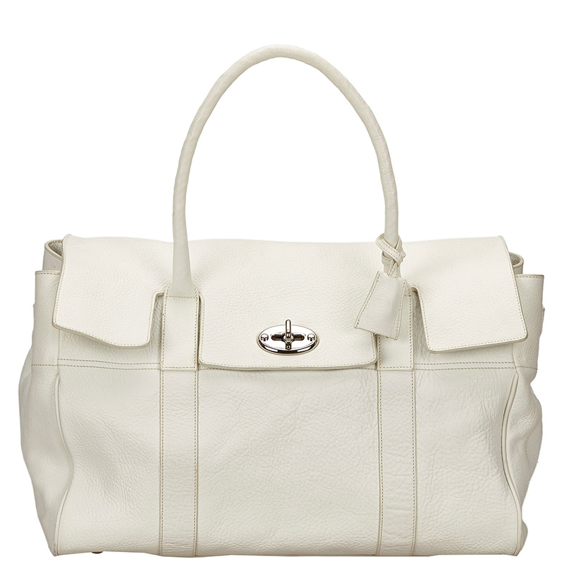 Buy Mulberry White Leather Bayswater Bag 134250 at best price  db6c6d45b69ef