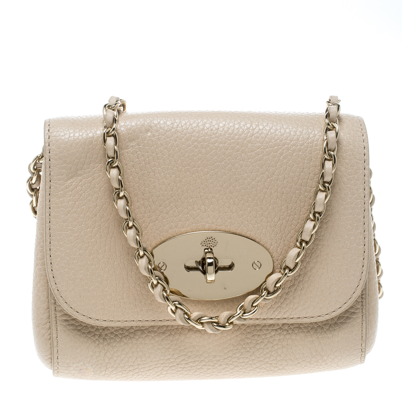 a755b563214 Buy Mulberry Beige Leather Mini Lily Crossbody Bag 151573 at best ...