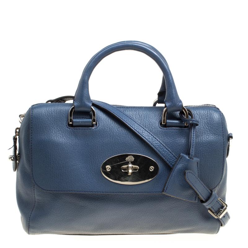 c46c9b3a5a ... Mulberry Blue Leather Del Rey Top Handle Bag. nextprev. prevnext