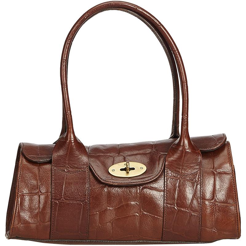 e47b2b6553 ... Mulberry Dark Brown Embossed Leather Bayswater Shoulder Bag. nextprev.  prevnext