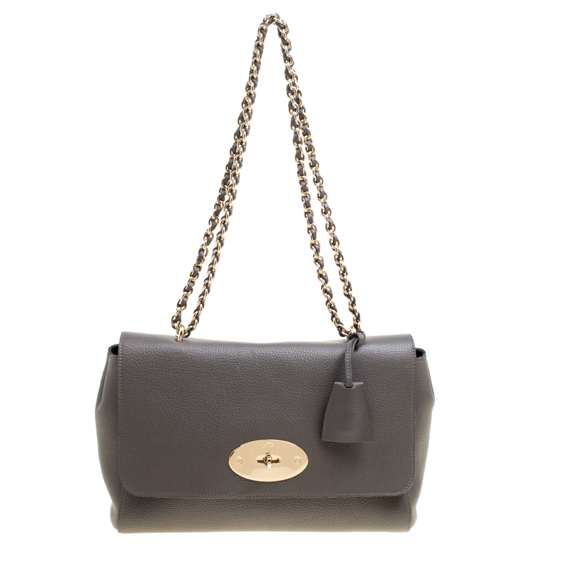 aaebd636153a Buy Mulberry Grey Leather Lily Shoulder Bag 165069 at best price