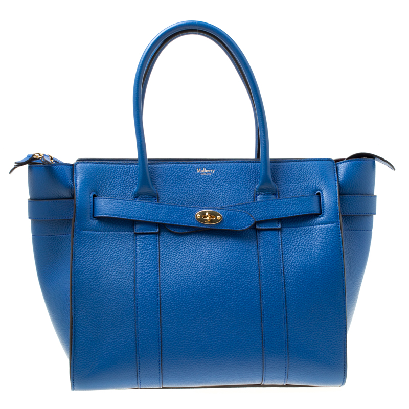 b09eea4429b ... Mulberry Porcelain Blue Leather Small Zipped Bayswater Tote. nextprev.  prevnext