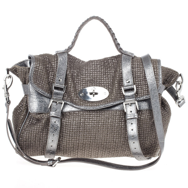 Buy Mulberry Alexa Sparkle Tweed Leather Bag 19803 at best price   TLC 95aa1d2653