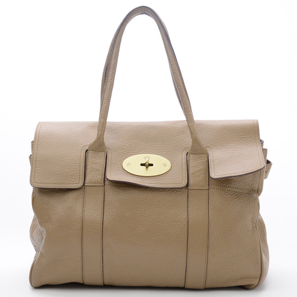 bc95677907 Buy Mulberry Pebbled Beige Bayswater Tote 23856 at best price