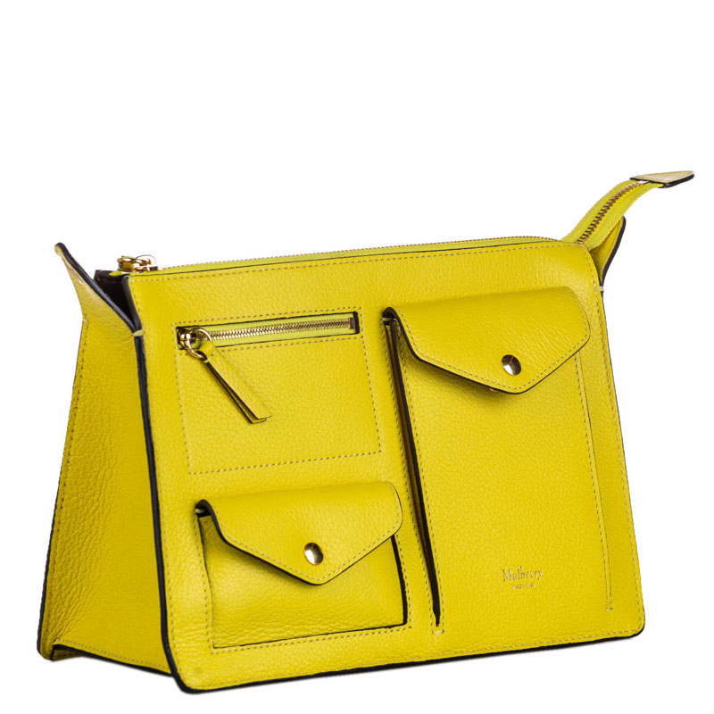 Mulberry Yellow Leather Cherwell Crossbody Bag