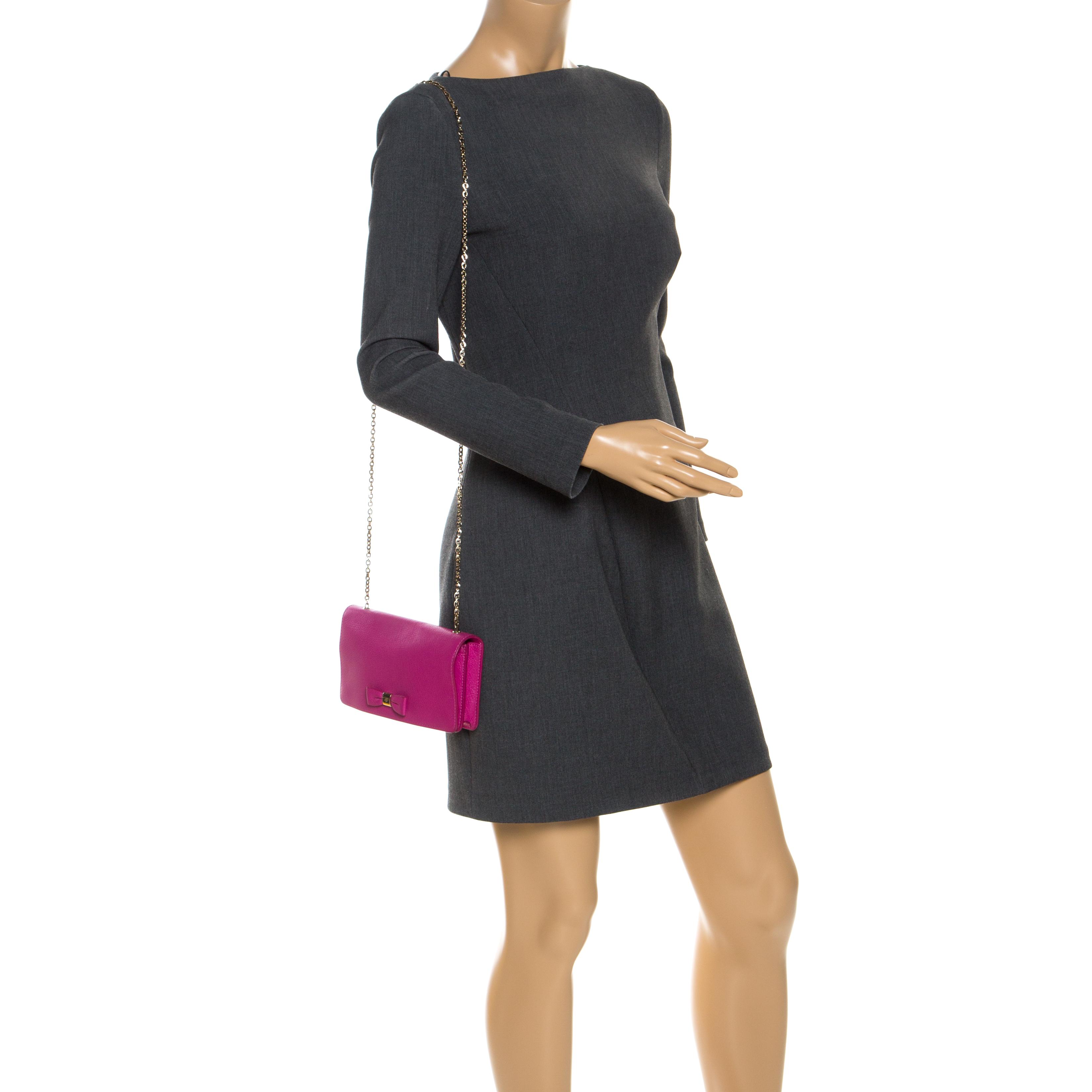 Mulberry Fuschia Leather Crossbody Bag, Pink