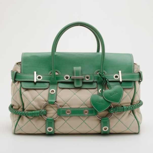 805f500bfb53 ... Mulberry Green Canvas and Leather Luella Gisele Satchel. nextprev.  prevnext