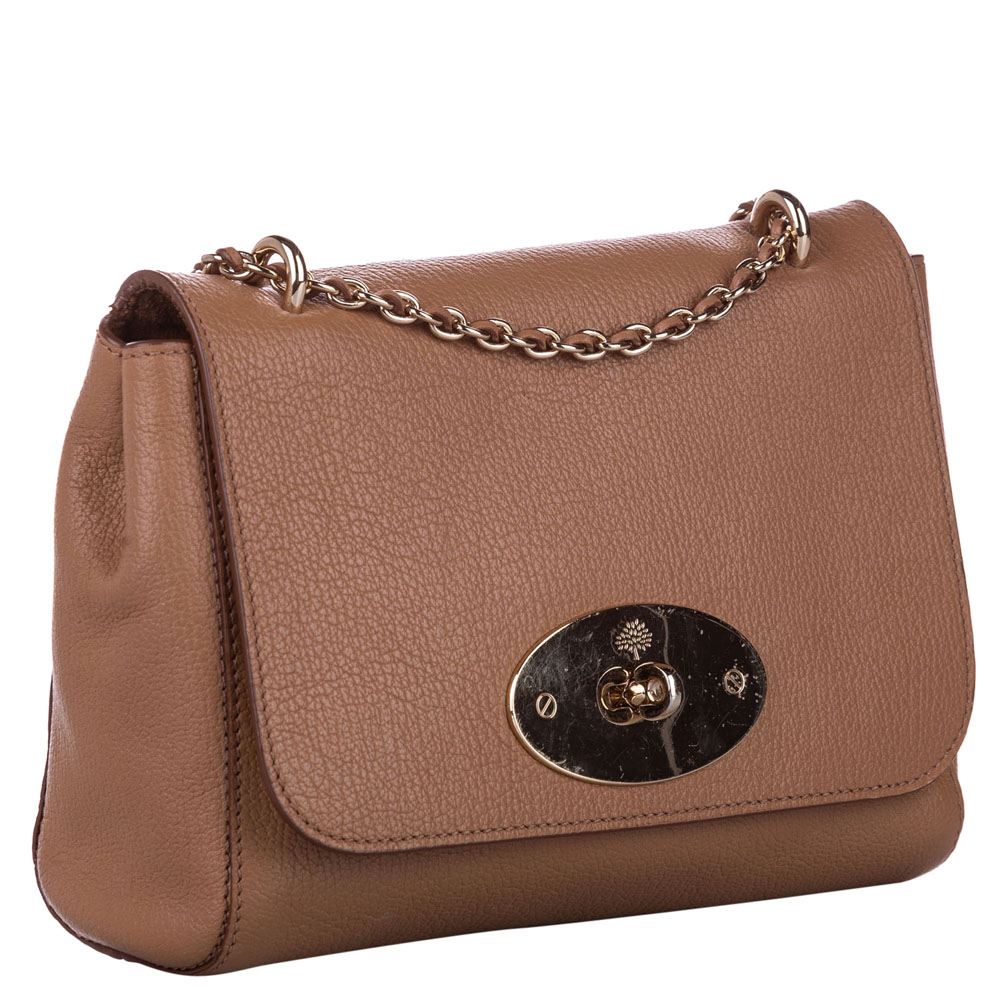 Mulberry Brown Leather Lily Crossbody Bag