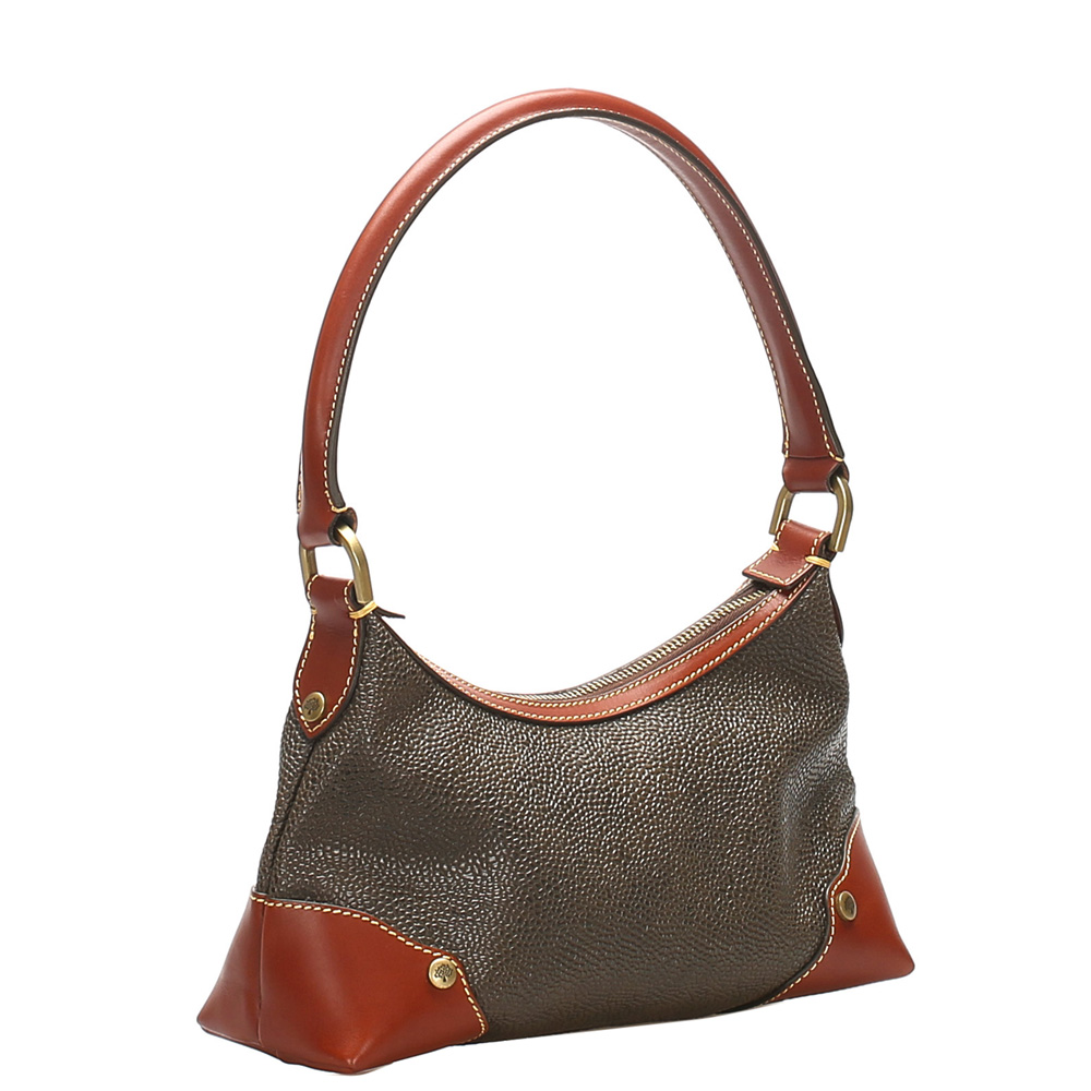 Mulberry Gray/Brown Leather Shoulder Bag