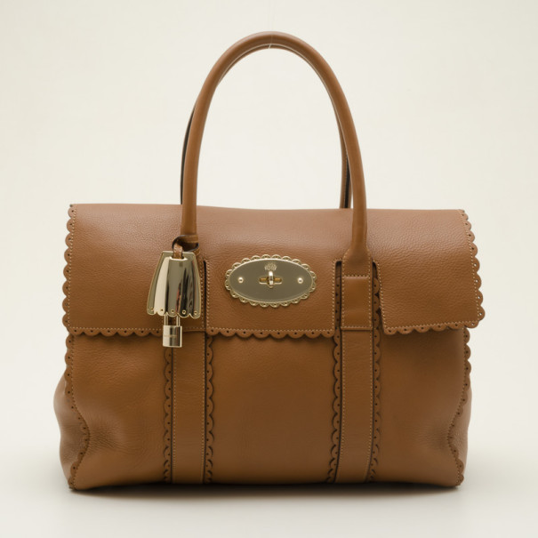 Buy Mulberry Brown Leather Cookie Bayswater Satchel 36782 at best ... d5abaf5ec8e0b