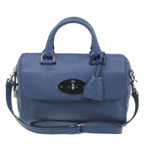 545dac461f Buy Mulberry Blue Leather Small Del Rey Satchel 3918 at best price