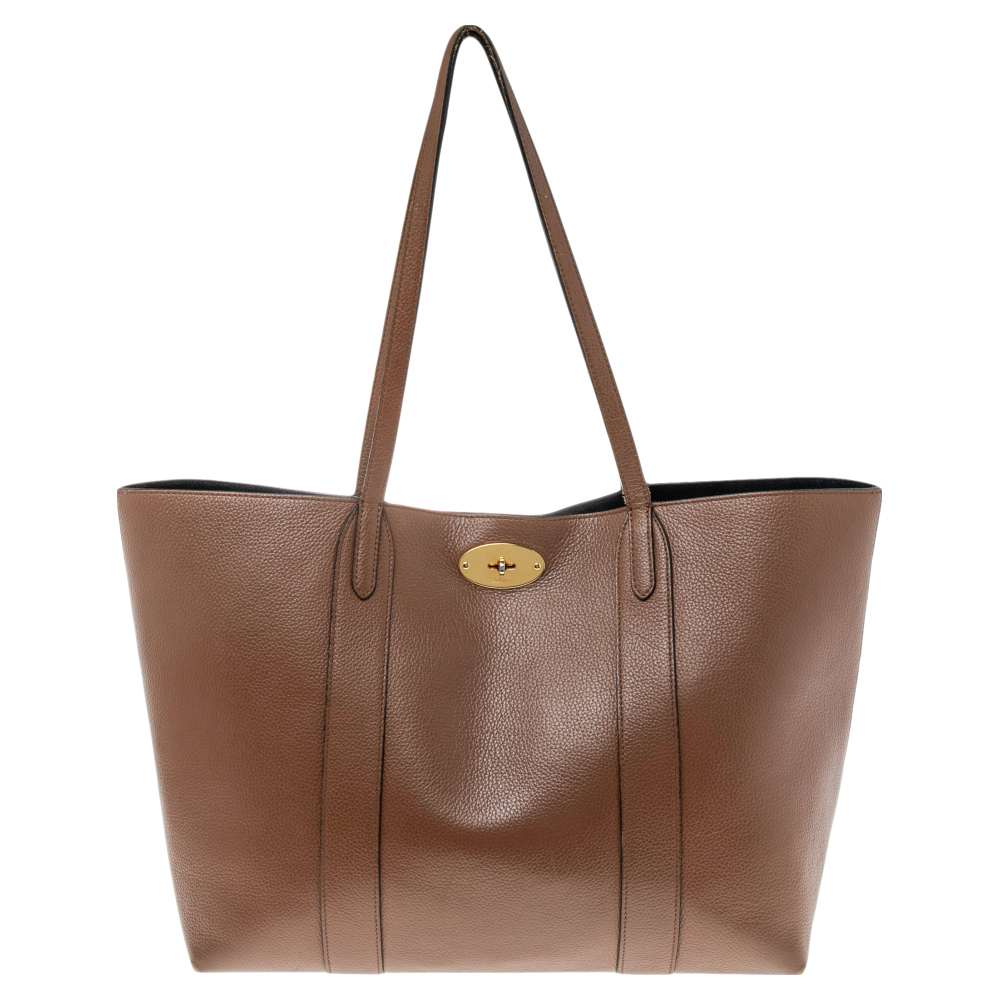 Pre-owned Mulberry Brown Leather Bayswater Tote