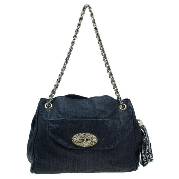 ... Mulberry Black Leather Front Flap Pocket Braided Tassel Strap Shoulder  Bag. nextprev. prevnext 739d9f9cb2dee