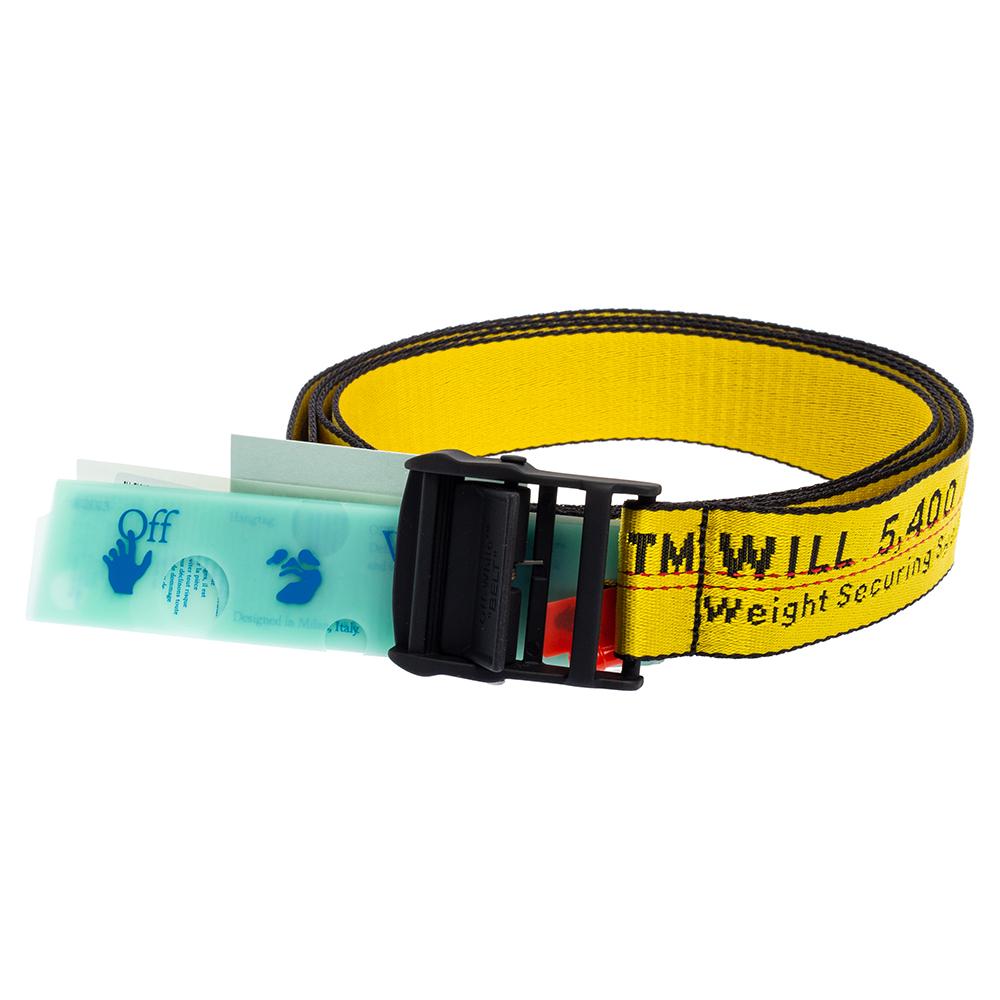 Off-White Yellow-Black Nylon Classic Industrial Belt 200CM