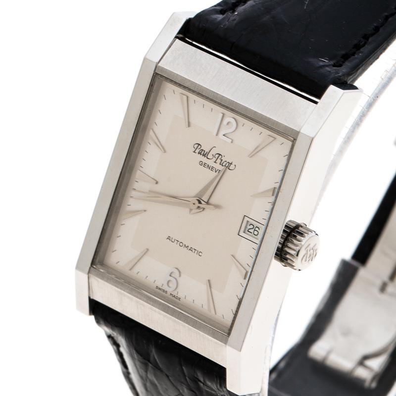 Paul Picot Argent en Acier Inoxydable Ascot 4052 Femmes montre-Bracelet 24 mm