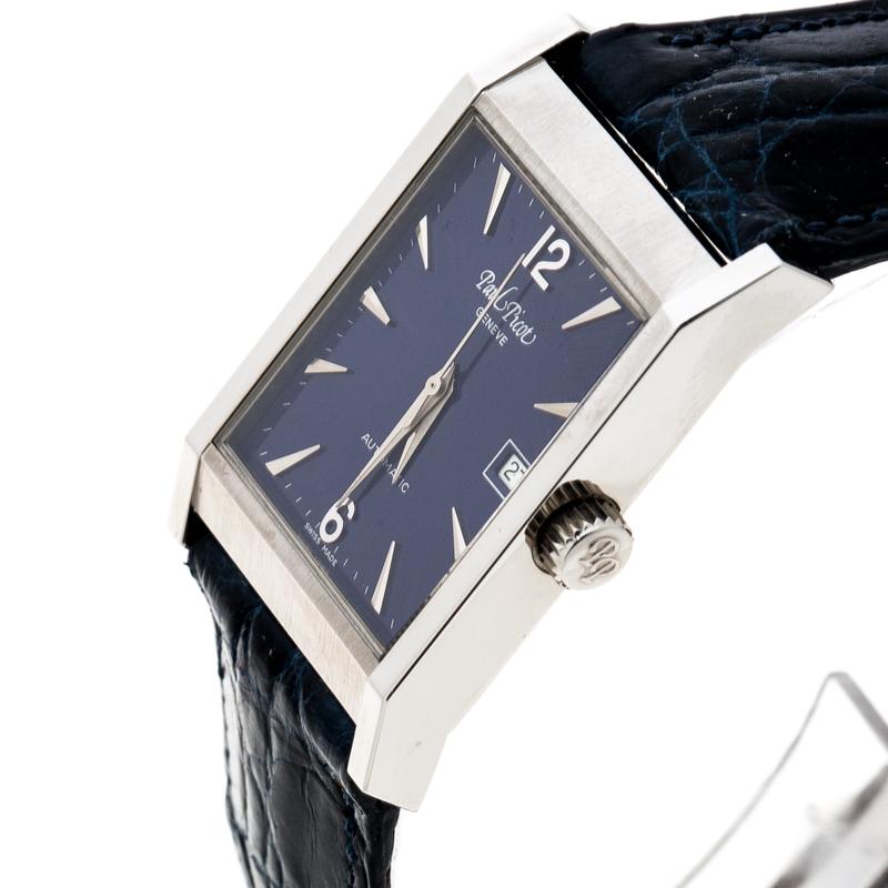 Paul Picot Bleu en Acier Inoxydable Ascot 4052 Femmes montre-Bracelet 24 mm