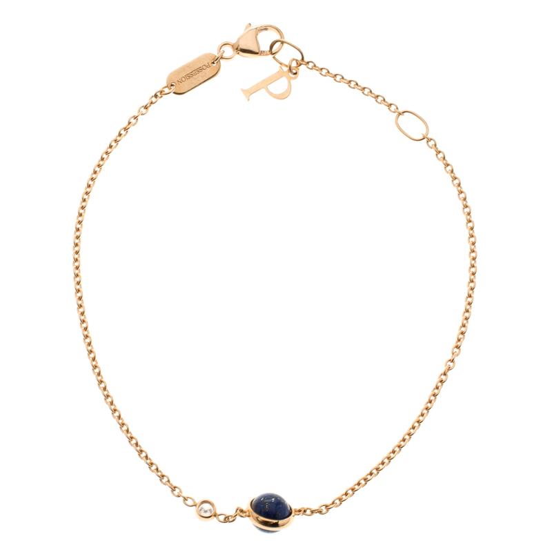 Piaget Possession Diamond Lapis Lazuli 18k Rose Gold Bracelet