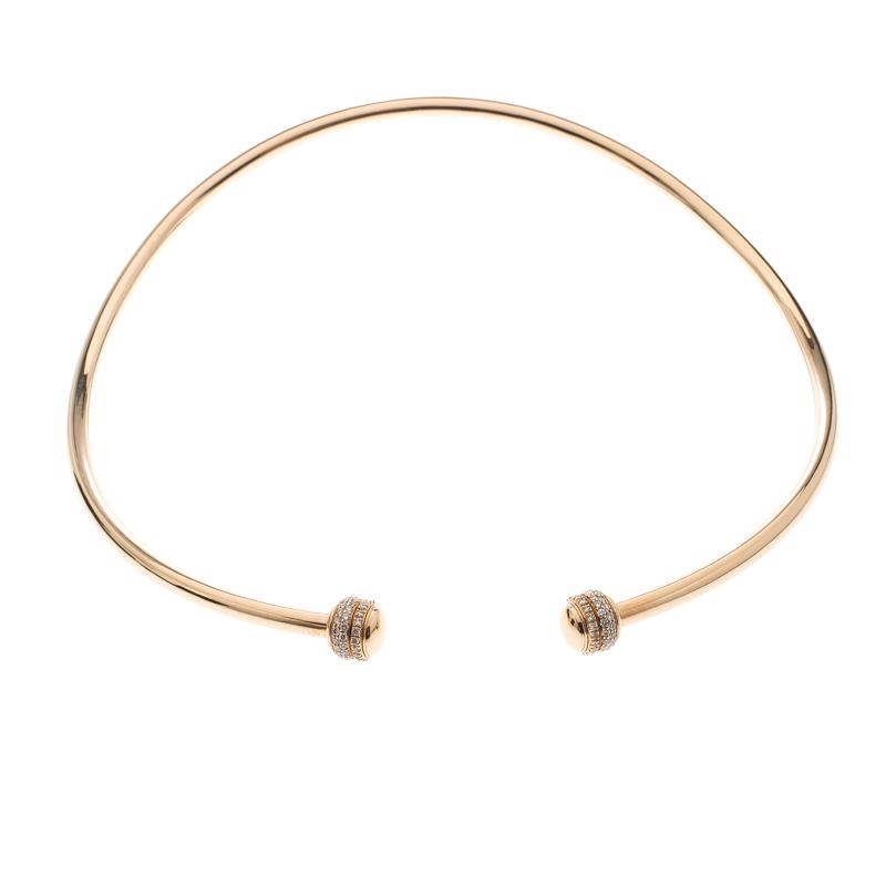 Piaget Possession Diamond & 18k Rose Gold Rigid Necklace