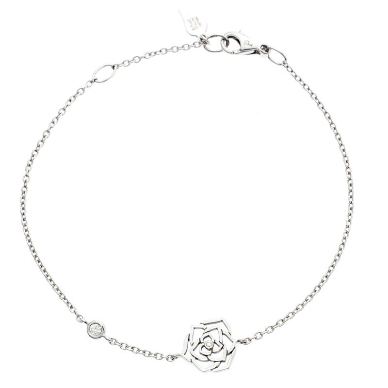Piaget Rose Diamond 18k White Gold Bracelet