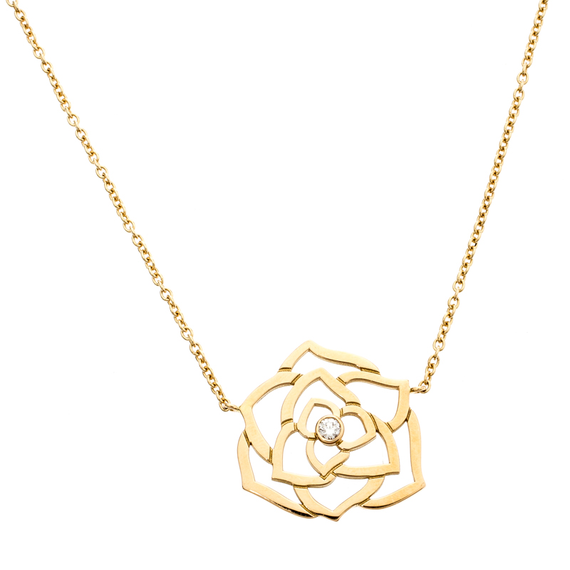 Piaget Rose Diamond 18k Rose Gold Necklace