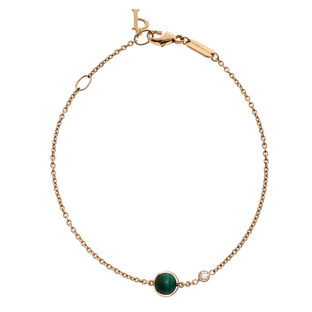 Piaget Possession Malachite Diamond 18K Rose Gold Bracelet