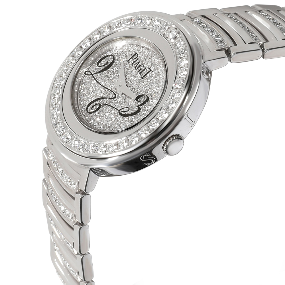 Piaget Silver Diamonds Stainless Steel Possession GOA30086 Women's Wristwatch 29 MM  - buy with discount